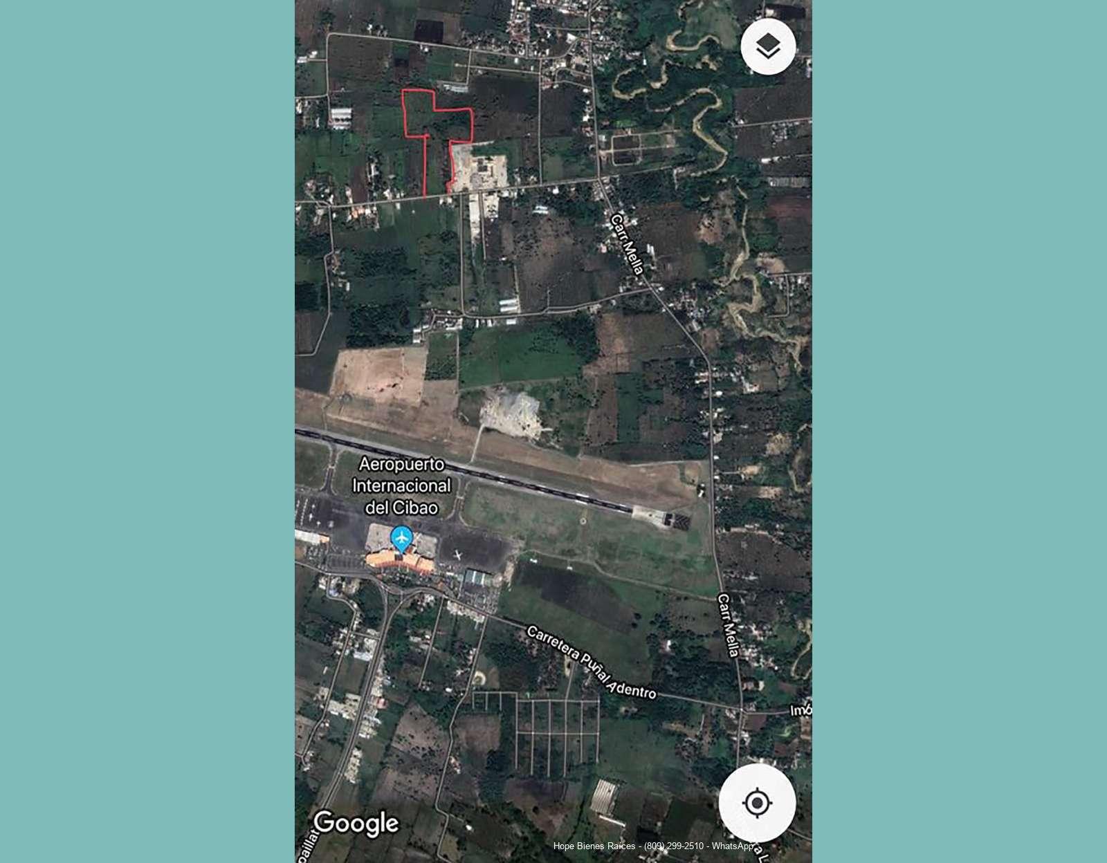 Vista relativa al Aeropuerto del Cibao