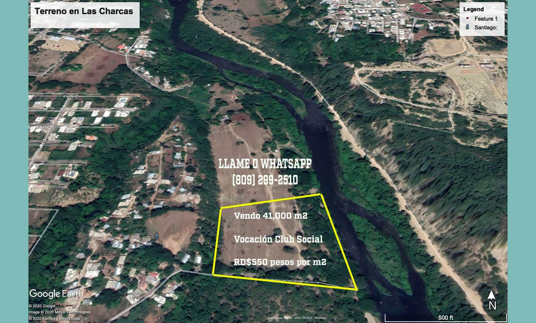 Vendo 41,000 m2 en Las Charcas, Santiago RD