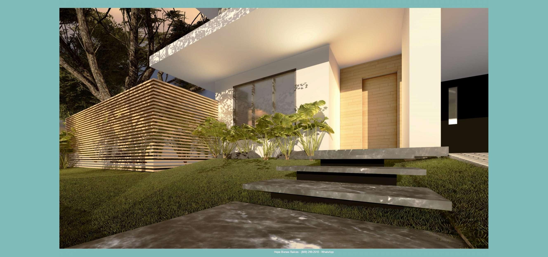 Sala a terraza con pergolado