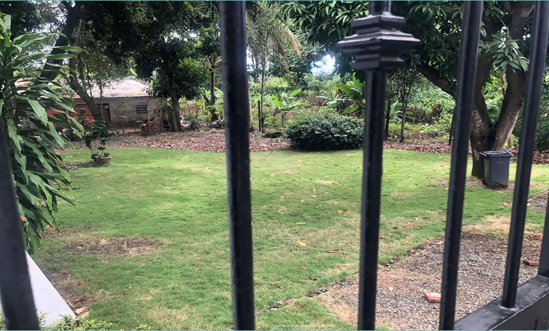 Puerta hierro al patio lateral